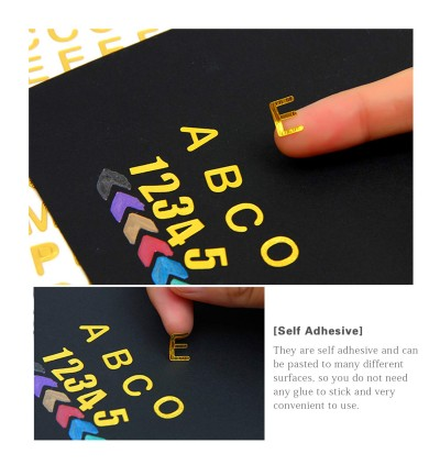 Glitter Self Adhesive Hot Stamping Letter and Number Stickers Scrapbook Arts Craft