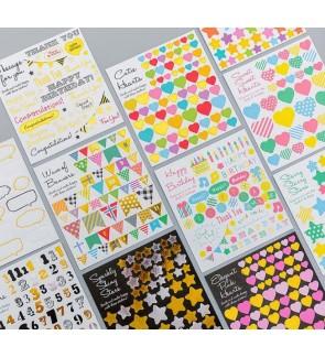 DIY Diary Stickers Stars Hearts Mini Paper Scrapbook Label Kawaii Stationery