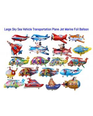[Ready Stock] Large Sky Sea Marine Transportation Plane Jet Cruise Boat Submarine Helicopte