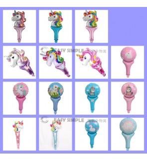 [Ready Stock] (1 piece) Unicorn Pony Hand Held Aluminium Foil Balloon Girl Kid Party Decoration Gift
