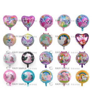 [Ready Stock] 18 Inch Unicorn Pony Aluminium Foil Balloon Party Stick Model Kid Birthday Deco