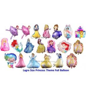 [Ready Stock] (1pc) Large Size Princess Theme Aluminium Foil Balloon Kid Party Decoration Gift
