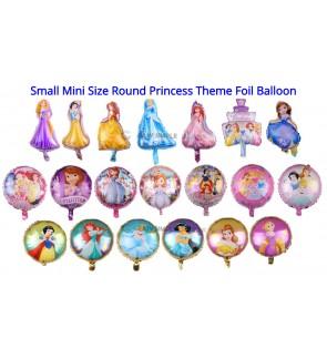[Ready Stock] (1pc) Small Mini 16 18 Inch Princess Theme Foil Balloon Kid Party Decoration Gift