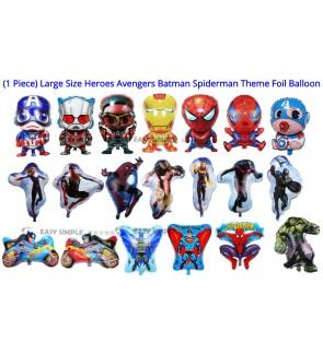 [Ready Stock] Large Size Super Heroes Avengers Batman Spiderman Superman Foil Balloon