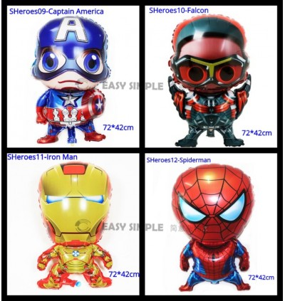 [Ready Stock] Large Size Super Heroes Avengers Batman Spiderman Superman Foil Balloon