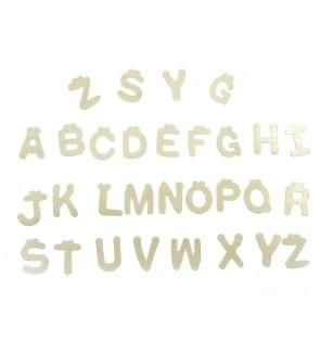 [Ready Stock] 1 Pack 30pcs (4*0.1cm) Plain Wooden Alphabet Letters A-Z Letter DIY Craft