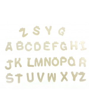 [Ready Stock] 1 Pack 30pcs (4*0.1cm) Plain Wooden Alphabet Letters A-Z Letter DIY Craft
