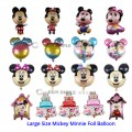 [Ready Stock] (1 Piece) Large Size Mickey Minnie Baby Birthday Fullmoon New Born Foil Balloon