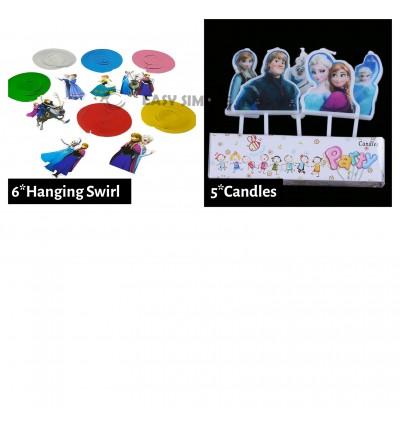 [Ready Stock] Frozen 2 Cartoon Theme Birthday Party Decoration Tableware Banner