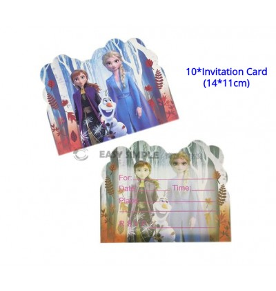 [Ready Stock] Frozen 2 Cartoon Theme Birthday Party Decoration Tableware Banner