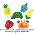 [Ready Stock] (1 Piece) Kid Manual DIY Weave Cloth Montessori Teaching Project Cloth Board Early Cognitive Development Preschool