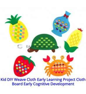 [Ready Stock] (1 Piece) Kid Manual DIY Weave Cloth Montessori Teaching Project Cloth Board Early Cognitive Development Preschool
