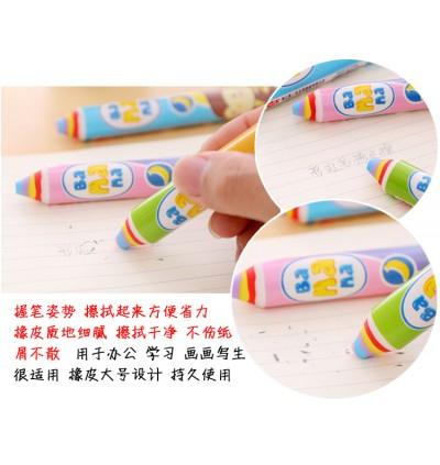 [Ready Stock] (1 Piece) 14cm Cute Banana Monkey Stylish Long Big Stick Pen Pencil Shaped Eraser for Kids