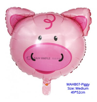 [Ready Stock] (1 Piece) Large OR Medium Size Animal Head Foil Balloon Helium Party Wall Decoration