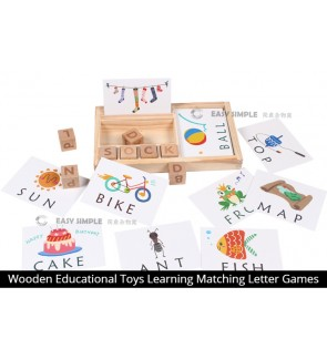 [Ready Stock] Wooden Spelling Alphabet Letter Game Educational Puzzle Toy for Toddlers and Kids