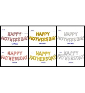 "[Ready Stock] ""Happy Mothers and Farthers Day"" Letter Foil Party 16"" Balloons Decoration Kid"
