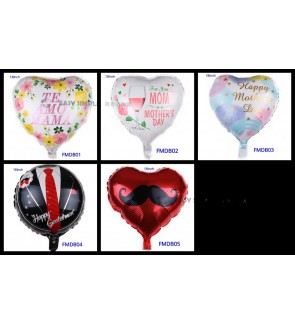 [Ready Stock] (1 Piece) 18 Inch Happy Parent Day Theme Foil Balloon Celebration
