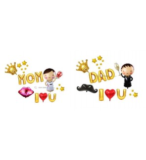 [Ready Stock] Happy Parent Days Mother Day Farther Day Celebration Foil Balloon Package