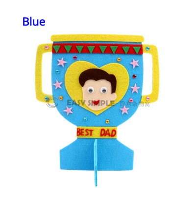 (1 Piece) Kids Non-Woven Fabric Art Craft Making Kit Creative Trophy DIY Toy for Father's Day