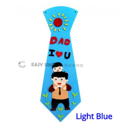 [Ready Stock] (1 Piece) Kids Non Woven Fabric DIY Necktie Creative Art Craft Making Kit for Father's Day