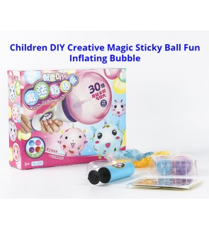 [Ready Stock] 4pcs Big Ball Combination Model Toy Kid DIY Handmade Creative Sticky Ball Need To Inflate