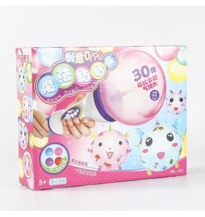 [Ready Stock] 4pcs Big Ball Combination Model Toy Kid DIY Handmade Creative Sticky Ball Need To Inflate