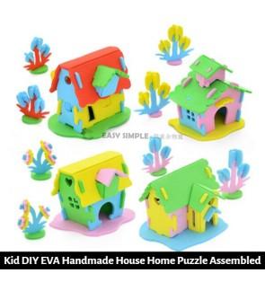 [Ready Stock] Kid 3D DIY Mini EVA Home House Toy Pretend Play EVA Puzzle (Random Color)