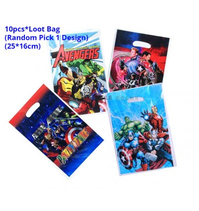 [Ready Stock] Marvel Avengers Superhero Birthday Party Supplies Table Decoration Disposable Tableware Plate Cup