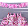 [Ready Stock] Pink Unicorn Head Girl Birthday Party Supplies Decorations Happy Birthday Banner