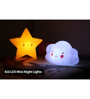 [Ready Stock] (1 Piece) Baby Kid Room Sleeping LED Night Light Bed Table Lamp Plastics PVC Light-Up Toys
