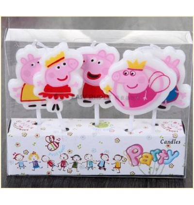 [Ready Stock] Kid Peppa Pig Pink Theme Party Supplies Decoration Disposable Tableware Plate Cup Spoon Hat Straw