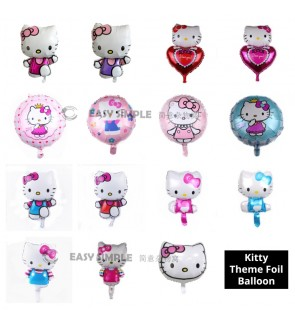 [Ready Stock] 1 Piece Hello Kitty Princess Girl Theme Foil Balloon Birthday Party Wall Decoration