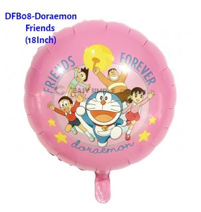 [Ready Stock] (1 Piece) Doraemon Theme Foil Balloon Wall Decoration Kid Birthday Party Boy Girl