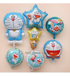 [Ready Stock] (1 Piece) Doraemon Theme Foil Balloon Wall Decoration Kid Birthday Party Boy Girl