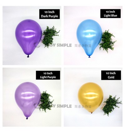 [Ready Stock] (100pcs) 10 Inch 2g Colorful Latex Balloon Birthday Party Helium Wedding Wall Decoration