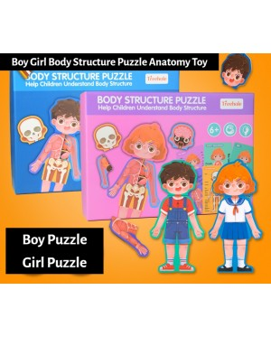 Kid Boy Girl Body Structure Parts Puzzle Anatomy Toy Early Learning Teaching Human Cognitive