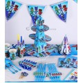 [Ready Stock] PJ Masks Catboy Owlett Theme Boy Heroes Birthday Party Disposable Tableware Plate