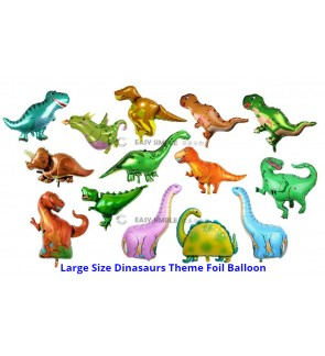 [Ready Stock] 1 Piece Large Size Dinosaurs Theme Foil Balloon Boy Birthday Party Decoration T-Rex