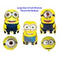 [Ready Stock] Large Size 18 Inch Minions Yellow Theme Foil Balloon