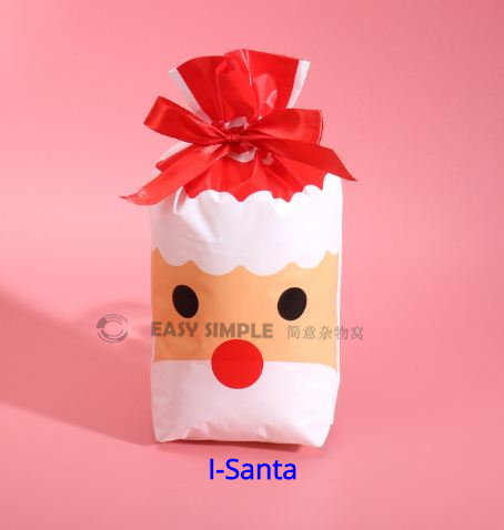 [Ready Stock] (5pcs/pack) (23.5*15*3cm) Biscuit Candy Ribbon Drawstring Flat Open Top Bags Present Gift Bag