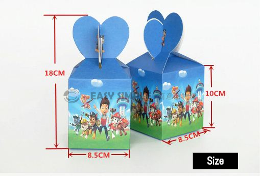 (6pcs/lot)(10cmx8.5cm) Kid Birthday Party Candy Box Gift Decoration Gift Paper Box