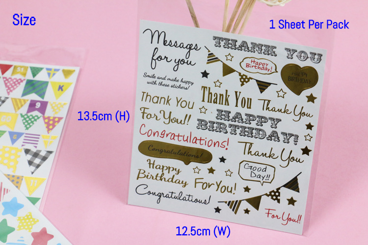 DIY Diary Stickers Stars Hearts Mini Paper Scrapbook Label Kawaii Stationery