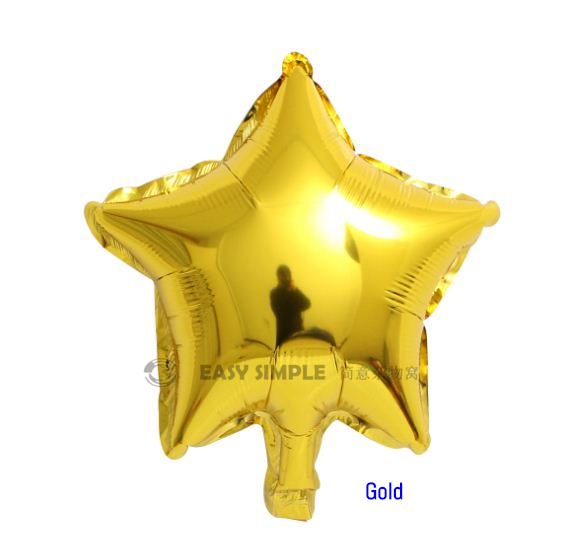 [Ready Stock] (5pc) 10 Inch Star Shape Foil Balloon Valentine Party Decoration