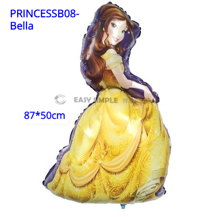[Ready Stock] (1pc) Large Size Princess Theme Aluminium Foil Balloon Kid Party Decoration Gift