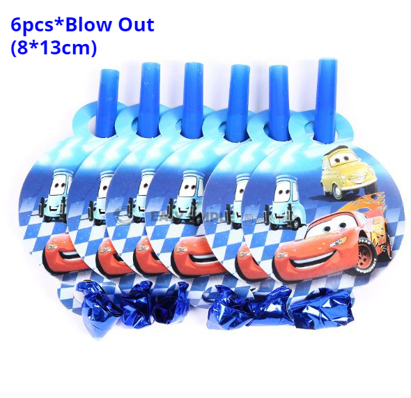 [Ready Stock] Cars Boy Birthday Party Supplies Decoration Disposable Tableware Paper Plate Cup Horn
