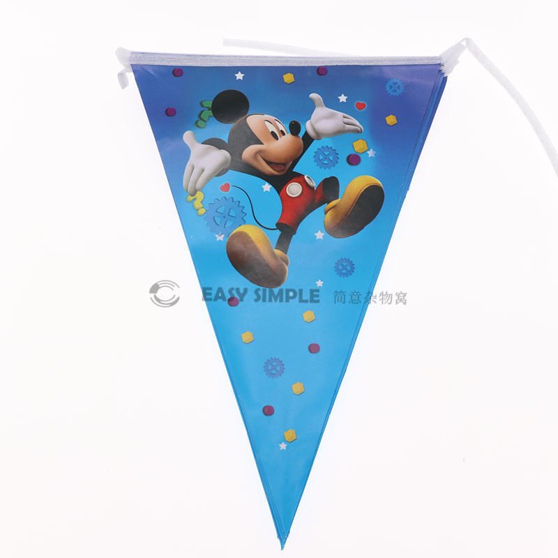 [Ready Stock] Kid Mickey Blue Theme Birthday Party Supplies Disposable Tableware Decoration Plate Cup Loot Bag